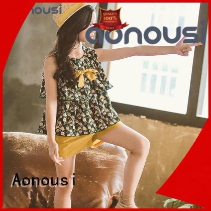 Aonousi hotselling girls clothing wholesale from manufacturer for girls
