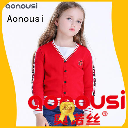 Aonousi Best girls cardigan grey for baby