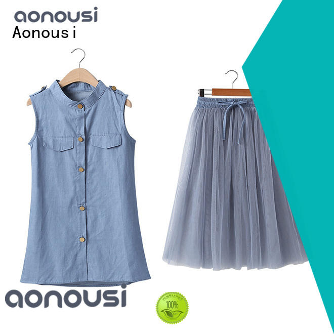 Aonousi fashion baby girl clothes sale for kids