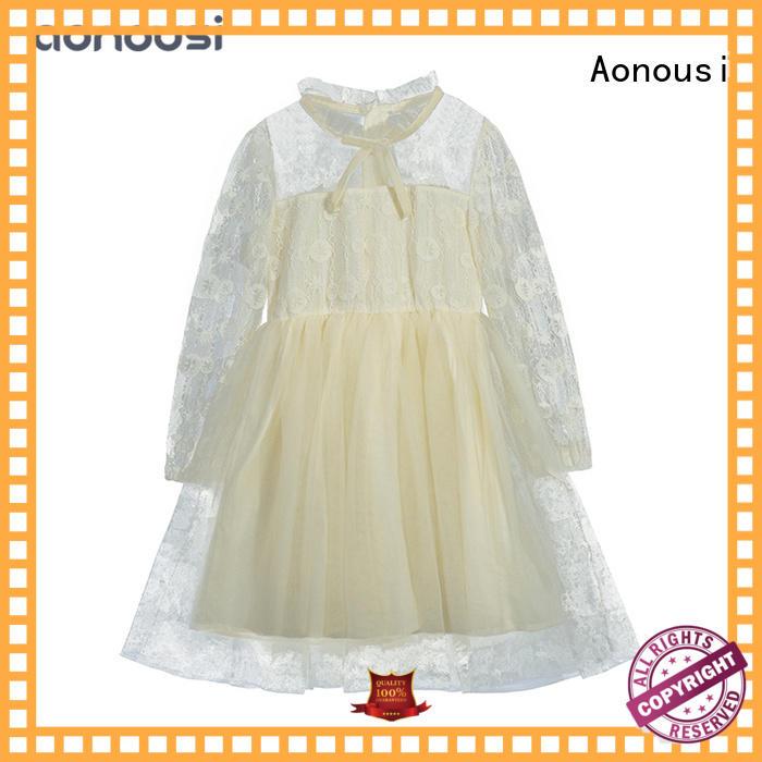 Children clothes 2019 new design girls fall winter dresses Autumn temperament  gown girls boutique dresses wholesale