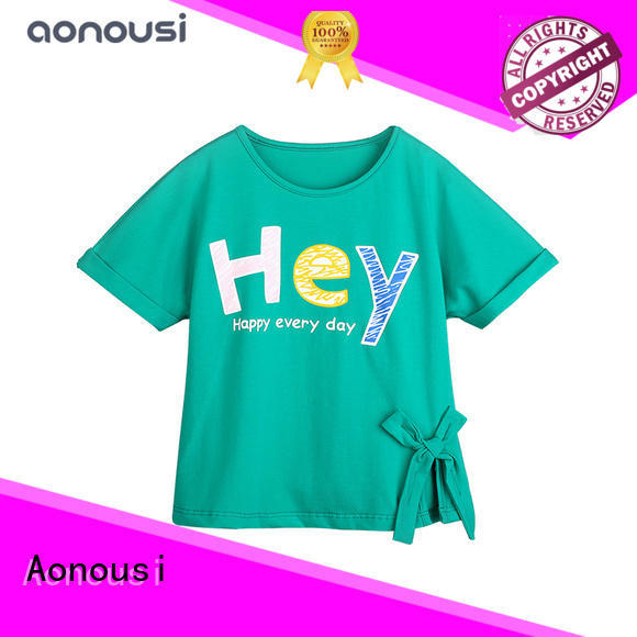 Aonousi style girls red and white shirt Suppliers for kids