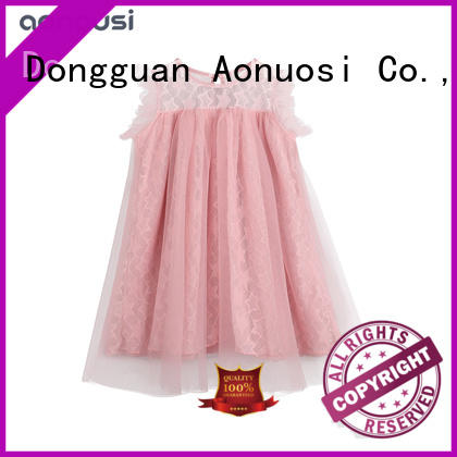 Wholesale girls clothes summer pink princess dresses casual fashion loose lace dresses  girls sleeveless dress