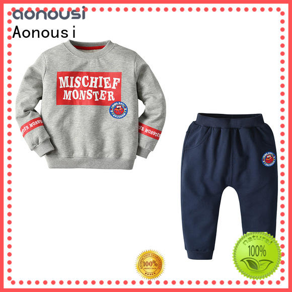 Aonousi cotton baby boy clothes trendy for business for boys