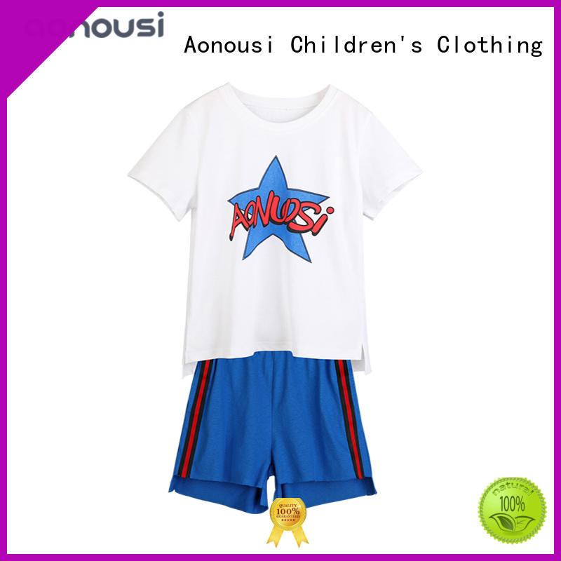 Aonousi tshirt girls sets of clothes for girls