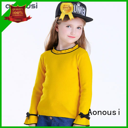 Aonousi girls mint green sweater factory for baby