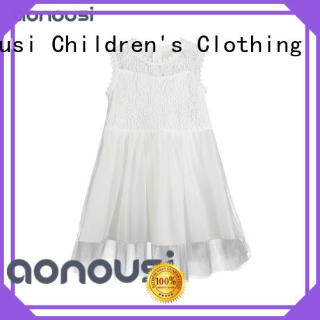 Aonousi flower custom baby girl clothes for kids