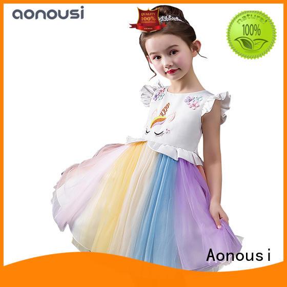 Aonousi little girl party dresses cheap Suppliers