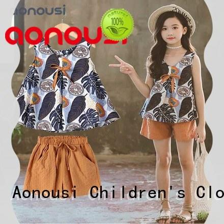 Aonousi hot-sale girl clothing from manufacturer for kids