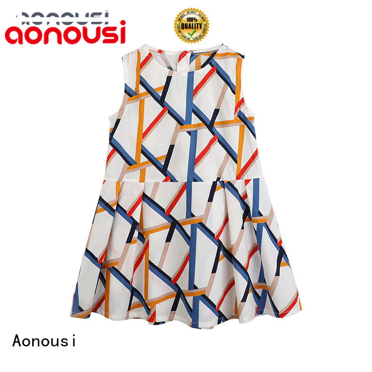 Aonousi collar kids dress for girls for kids