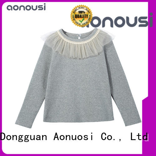 Aonousi leisure little girl wholesale boutique clothing factory for kids