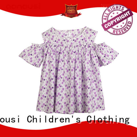 Aonousi cotton childrens clothing factory price for girls