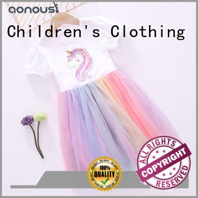 Aonousi sleeveless girls clothes wholesale free design for kids