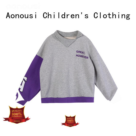 Aonousi Wholesale shirts for kids girls factory for girls