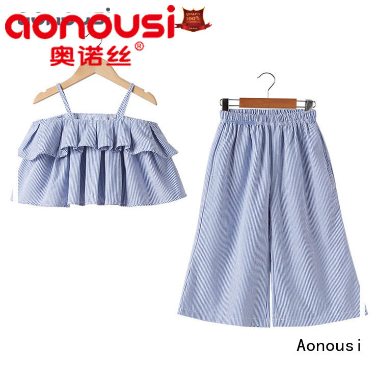 Aonousi casual wholesale kids clothing suppliers free design for kids