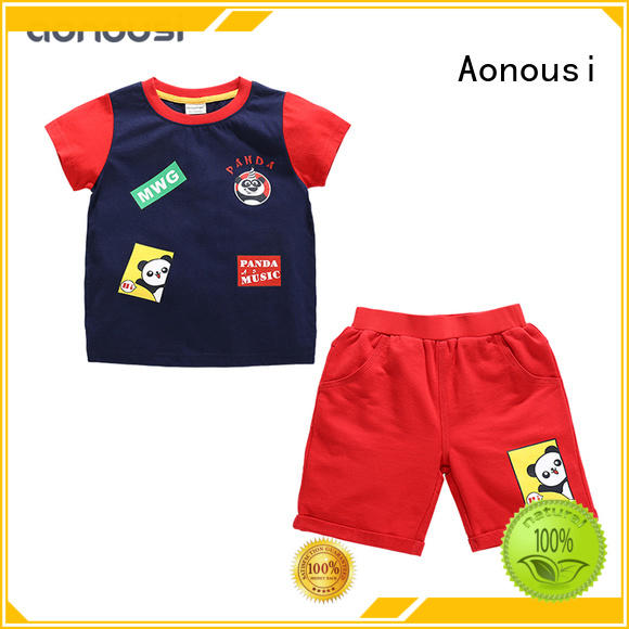 Aonousi shirts children and baby clothes bulk production for boys
