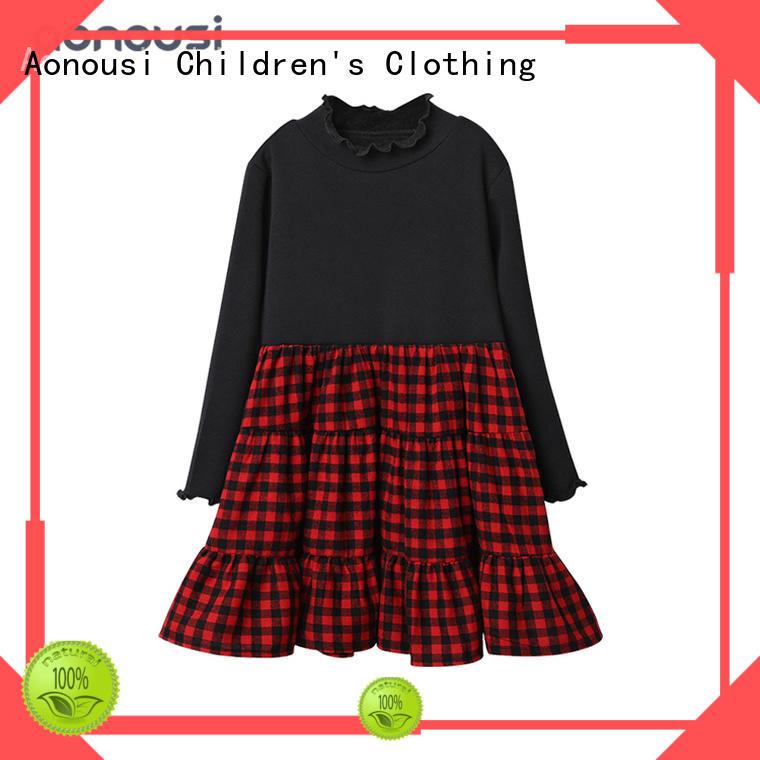 Winter Autumn girls dress wholesale girls fashion skirts red grid skirts for children