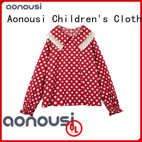 Autumn Winter shirt 2019 new children red long sleeves t shirt china wholesale girls clothing