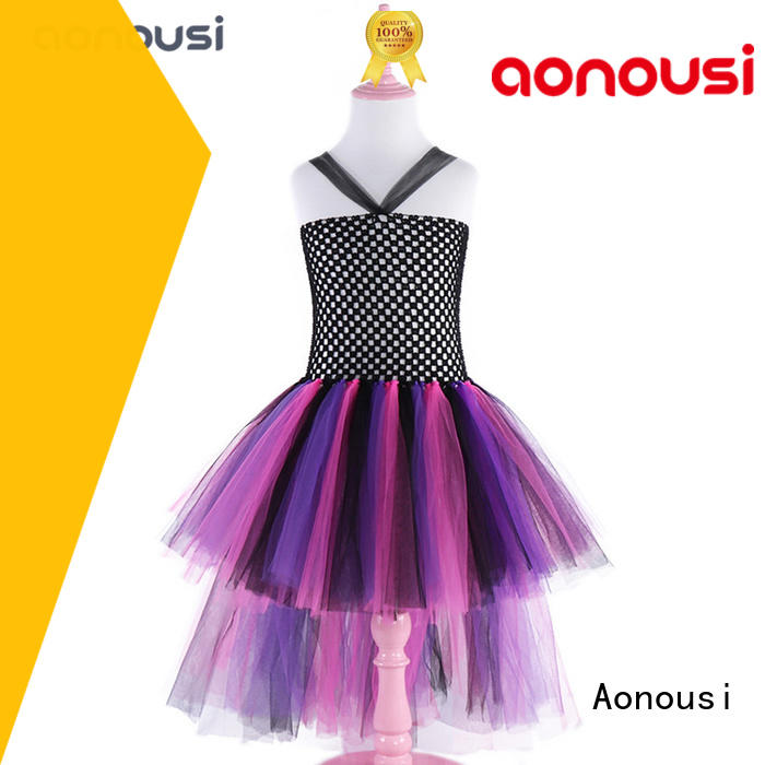 Aonousi off the shoulder christmas party dress for kids