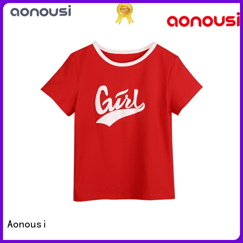 Aonousi brand t shirt design for girl Suppliers for girls