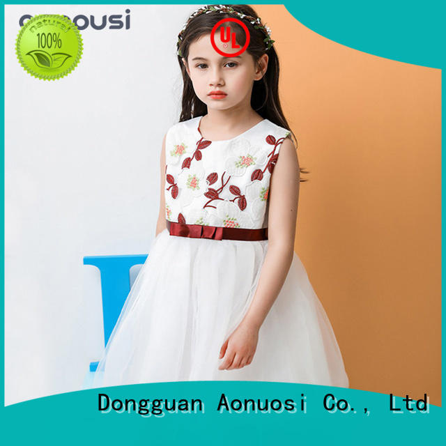 Aonousi beautiful baby girl party dresses for business
