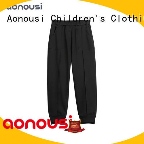 Spring Autumn new style pants children Korean version black warm pants china wholesale girls clothing