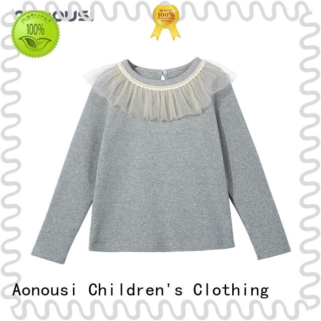 Aonousi popular little girl wholesale boutique clothing Supply for girls