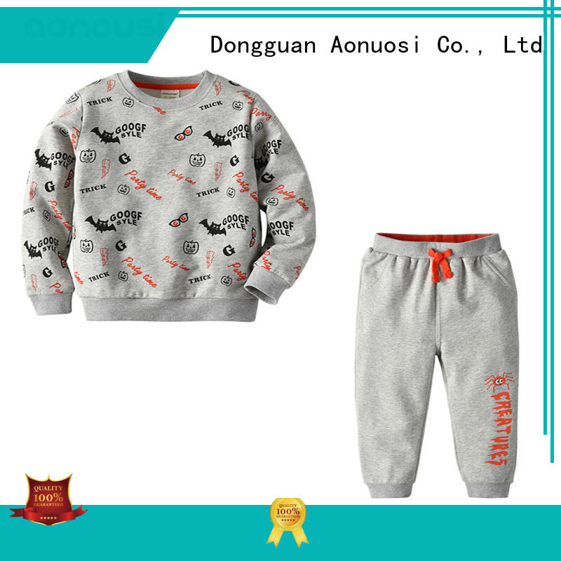 Aonousi new-arrival baby boy clothing sets cheap company for kids