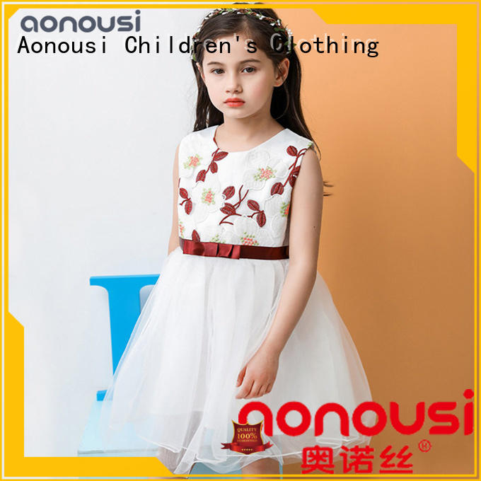 Aonousi flower girls clothing wholesale at discount for kids