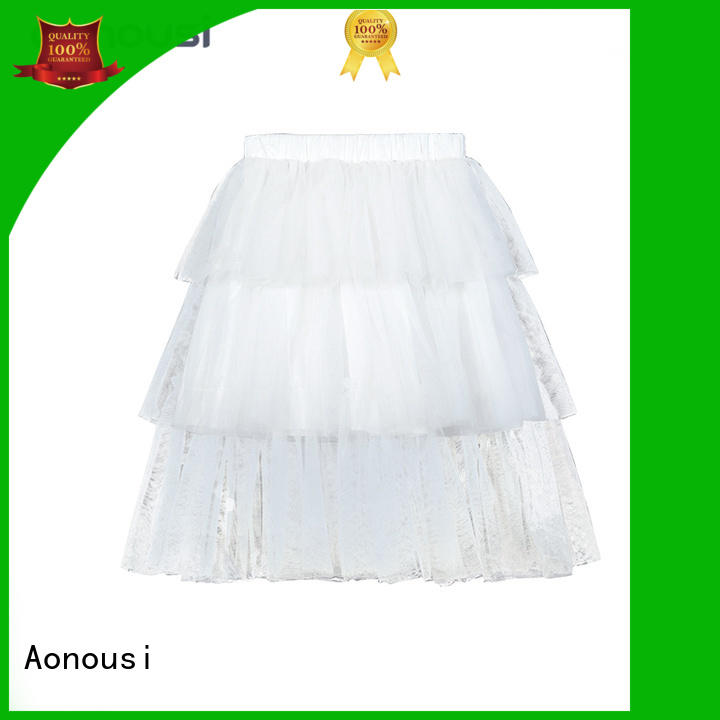 Aonousi high-quality girls grey skater skirt manufacturers for kids