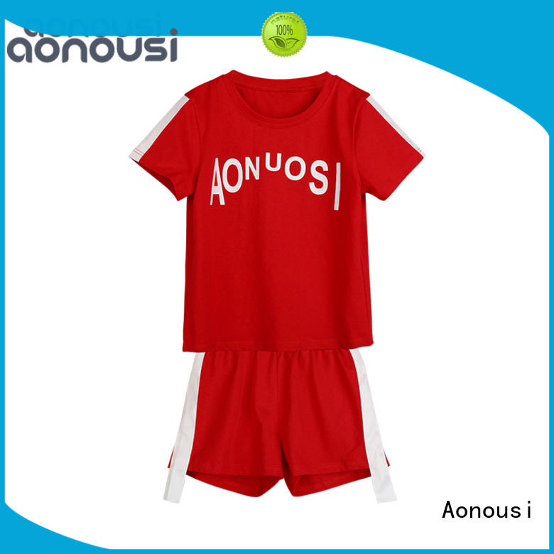 Aonousi color little girl clothes company for kids