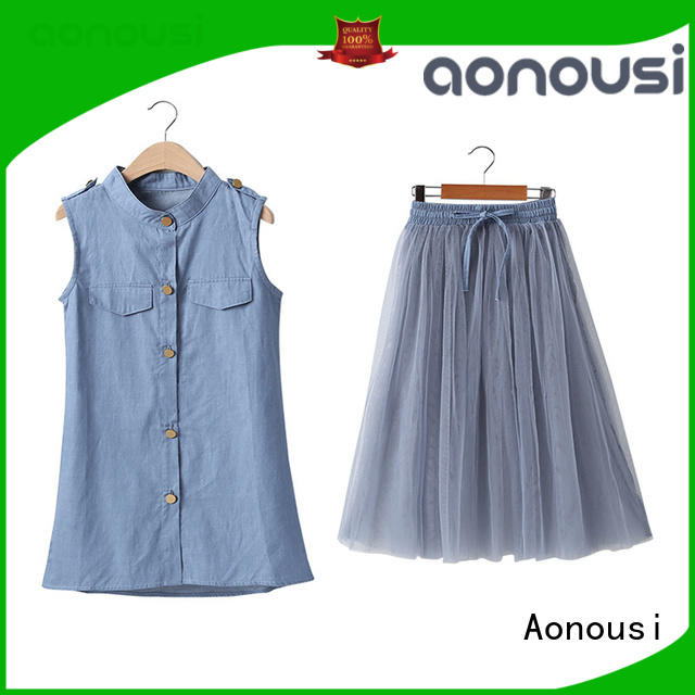 Aonousi newest childrens clothing for wholesale for girls