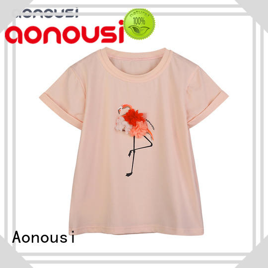 Aonousi hot-sale childrens clothing shirts for girls