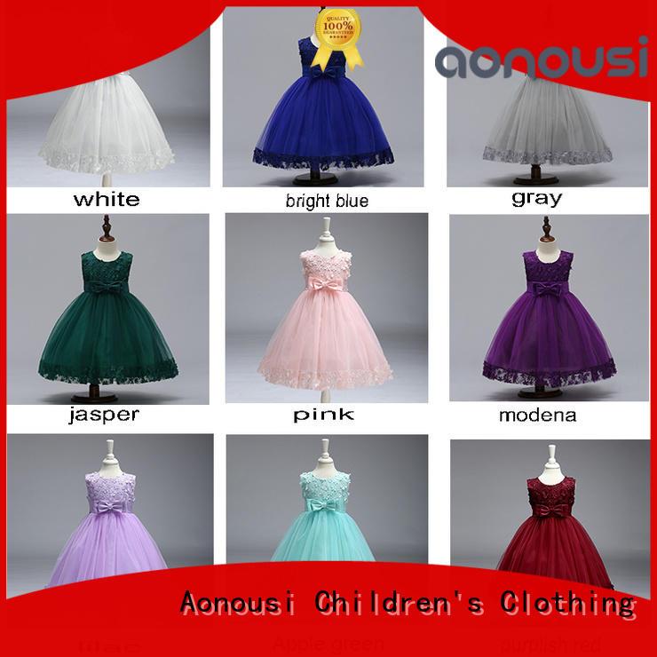 Aonousi Best little girl party dresses cheap factory