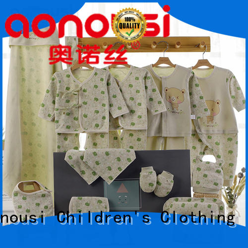 Aonousi singlesided custom baby clothes bulk production for kids