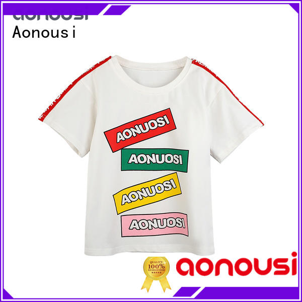 Aonousi popular girls solid color tops company for girls