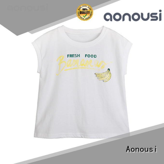 Aonousi inexpensive girls t shirts on sale factory for kids