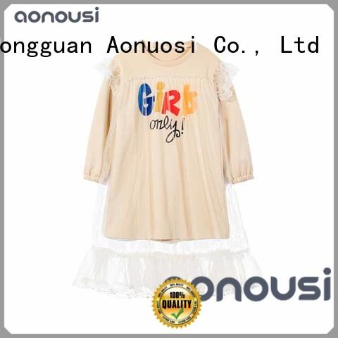 Aonousi girl quality children's clothing wholesale manufacturers for kids
