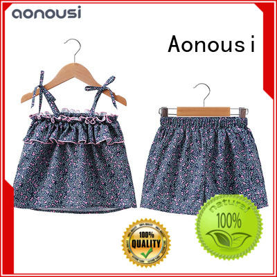 Aonousi cute kids clothes sets factory price for girls