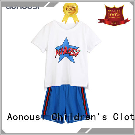 Aonousi cute little girl clothing sets company for kids