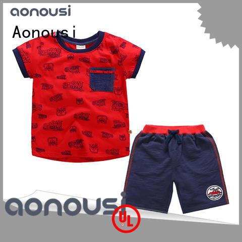 Aonousi wholesale boy boutique clothes newest for kids