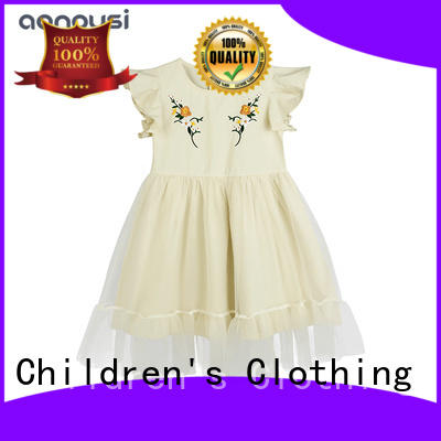 wholesale girls fashion children clothes  2019 summer new lace dresses yellow party dresses