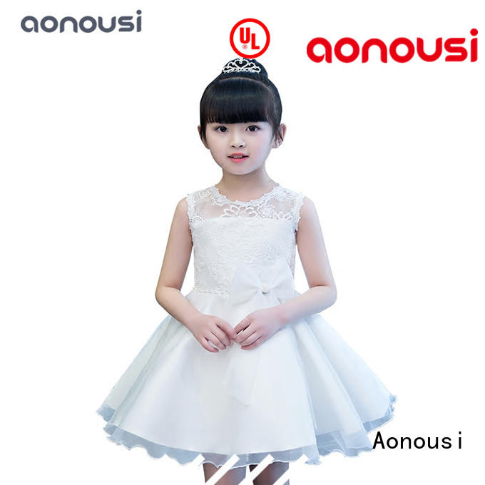 Aonousi party wear dresses for little girl for business