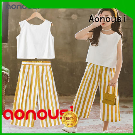 Aonousi cotton toddler girl clothes customization for kids