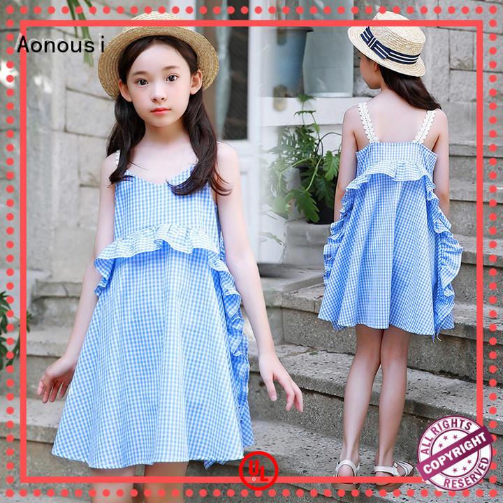 Aonousi girlsshort kids princess dress Suppliers for girls