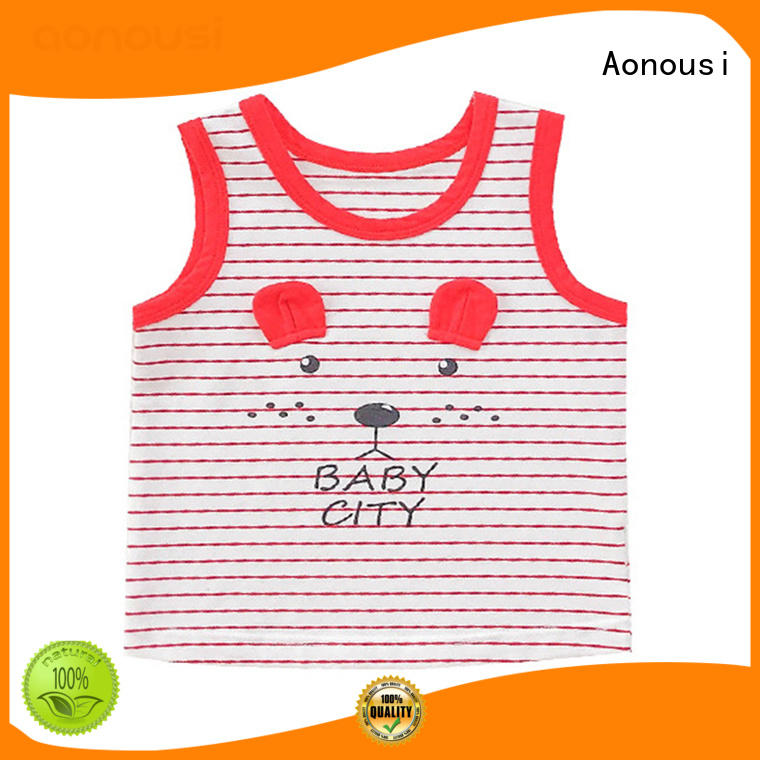 Aonousi cotton custom kid clothes widely-use for boys