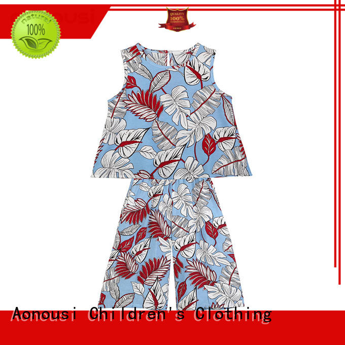 kids girl cloth sleeveless for girls Aonousi