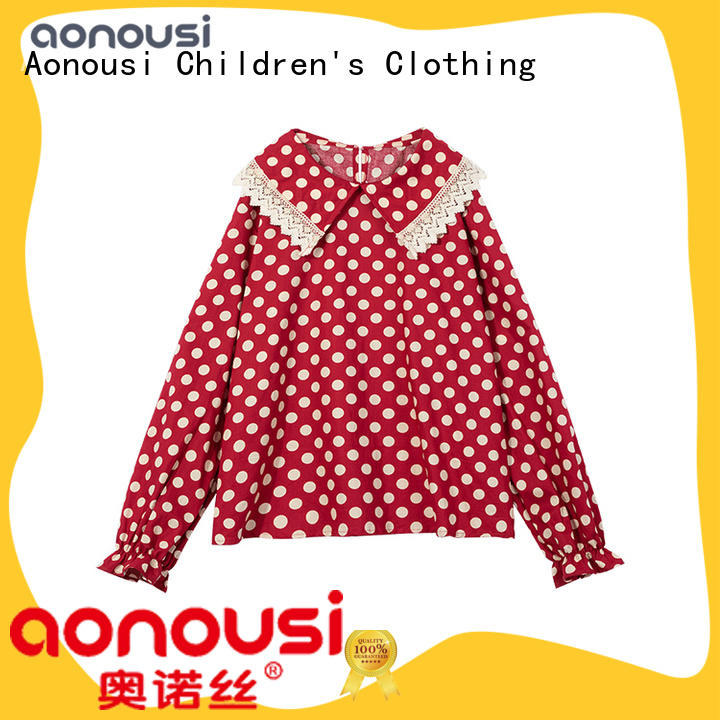 Aonousi summer girls t shirts kids for business for girls