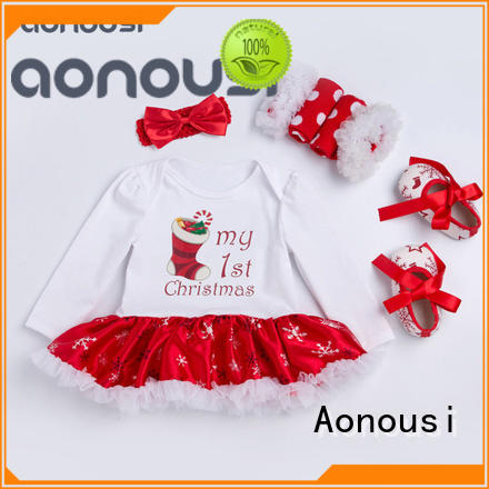 Aonousi quality girls clothing wholesale free design for kids
