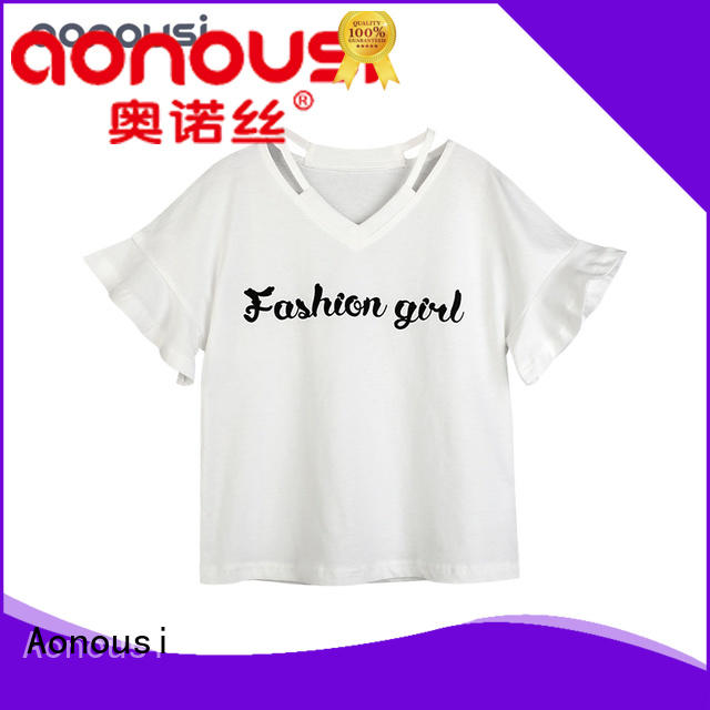 Aonousi style lime green shirts for girls for business for kids