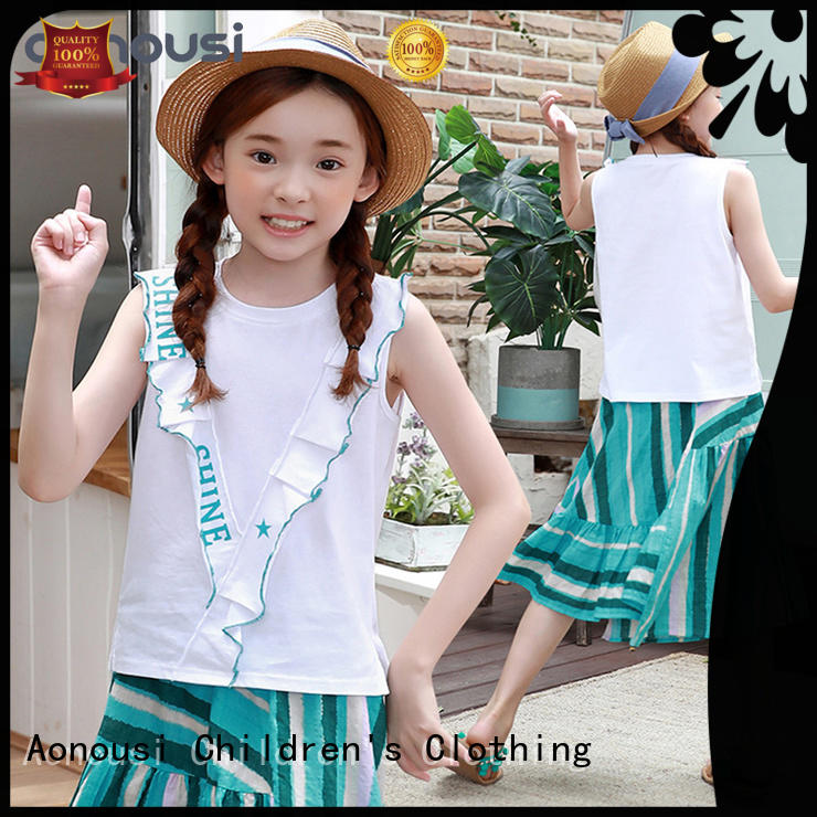 fashionable kids girl cloth with many colors for girls Aonousi